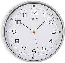 30.5cm Wall Clock Versa Colour: Silver