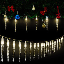 30 LED Fair Lights Icicle Warm White 5.9m (19ft)