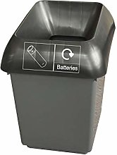 30 Litre Recycling Bin With Black & Battery Logo