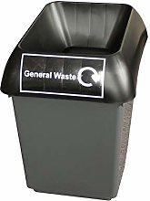 30 Litre Recycling Bin With Black Lid & General