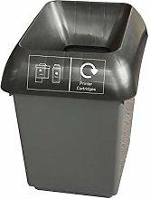 30 Litre Recycling Bin With Black & Printer