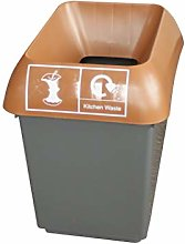 30 Litre Recycling Bin With Brown Lid & Kitchen