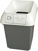 30 Litre Recycling Bin With Light Grey Lid & Non