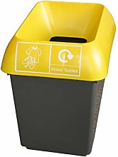 30 Litre Recycling Bin With Yellow Lid & Mixed