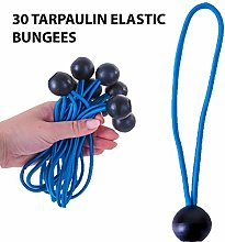 30 Pack Elastic Ball Bungees Shock Cord Tarpaulin