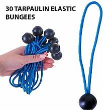 30 Pack Elastic Ball Bungees Shock Cord Tarpaulin