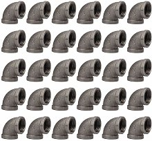 30 Pack Pipe elbow 1 inch, 90 Degree Pipe Elbow