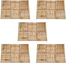 30 pcs Decking Tiles 50x50 cm Wood Brown - Brown -