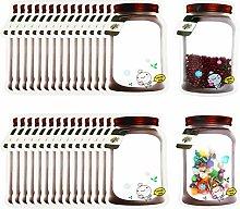 30 Pieces Mason Jar Bottles Bags Mason Jar Zipper