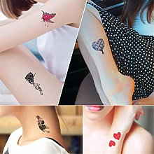 30 Sheets Tiny Metallic Temporary Tattoo Gold
