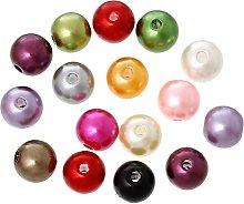 300 Acrylic Imitation Pearl 8mm Beads Mixed