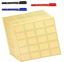 300 Large Kraft Paper Labels Stickers | 7cm x 5cm