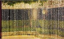 300-LED USB Plug-In Curtain Fairy Lights: