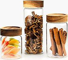 300ML/550ML/750ML Glass Airtight Storage Jar,