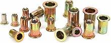 300Pcs Galvanized Steel Rivet Nut Kit, Rivnut