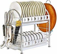304 Stainless Steel 2 Tier Drain Dish Rack
