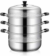 304 Stainless Steel Steamer/Soup Pot 4-Layer Large