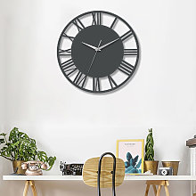 30CM Large Roman Numerals Open Round Wall Clock,