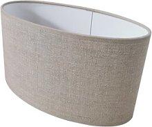 30cm Linen Oval Lamp Shape August Grove Colour: