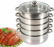 30cm Stainless Steel Steamer Steam Cooker Pot Food