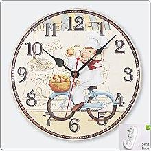 30cm Wall Clocks Shabby Vintage Chic Retro Bedroom