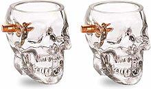 30ml Shot Glass Set of 2 Novelty Bullet Shots -