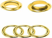 30mm Gold Eyelets Rings with Washers - Perfect for