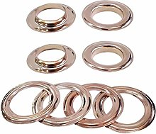 30mm Rose Gold Eyelets Rings with Washers -