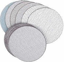 30PCS 3 Inch 75mm Sanding Discs Hook & Loop White