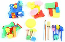 30pcs Sponge Stamp Children Painting Early