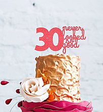 30th Birthday Cake Topper - 30 Never Looked So