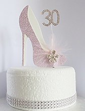 30th Pink and White Birthday Cake Decoration Shoe