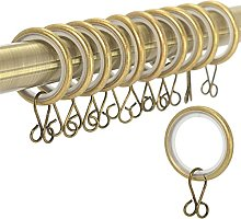 30x Antique Brass Silent Curtain Rings | Soft