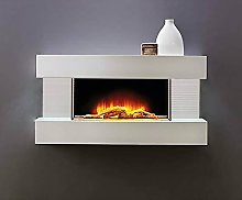 32' White Wall Mounted Electric Log Effect