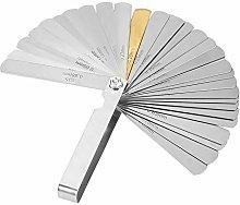 32 Blades Feeler Gauge, Stainless Steel Metric