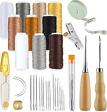 32 Pcs Leather Craft Sewing Tools Kit, Upholstery