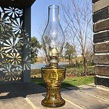 32Cm Kerosene Glass Lamp, Classic Glass Oil Lamp,