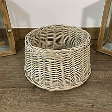 Grey ALT90 Christmas Willow Tree Skirt Base Cover Grey Brown silver Wicker Decoration 70cm Base