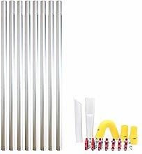 32ft 9.6m Long Reach Gutter Vacuum Pole Kit Set
