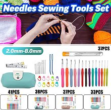 33-41Pcs Crochet Hooks Kit Thread Knitting Needles Sewing Tool Grip Set W / Bag New (3)
