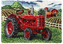 33.5X43.3 Inch Latch Hook Rug Kits Tractor Carpet