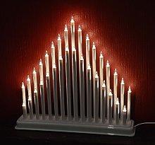 33 White Candle Tower Bridge Christmas Decor