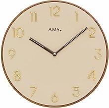 33cm Wall Clock AMS Uhrenfabrik Colour: Beige