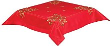 34 INCH (85cm) Square RED Christmas Tablecloth