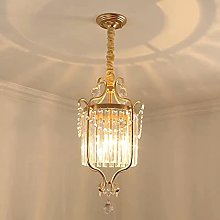 35 cm Crystal Pendant Light Modern Golden Metal