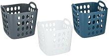 35-Litre Flexible Plastic Laundry Basket: Navy
