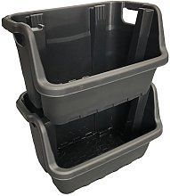 35 Litre Stacking Picking Plastic Open Fronted