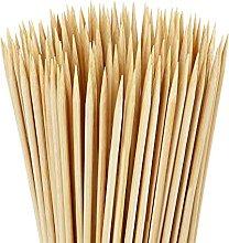 350 Pcs Bamboo Skewers Sticks, 15cm Natural Wooden