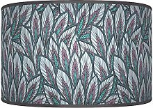 "35cm(14"") Leaves Floral Teal Purple Giclee"