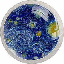 35mm Cabinet Knobs Abstract Starry Sky Round Pull